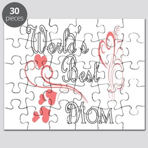 Best Mom (Pink Hearts) Puzzle