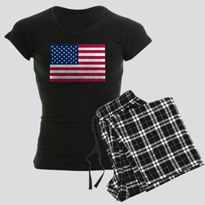 US Flag Women's Dark Pajamas