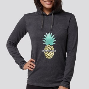 Delta Phi Lambda Pineapple Womens Hooded T-Shirts