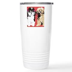 2 DOGS for FLIP FLOPS Stainless Steel Travel Mug