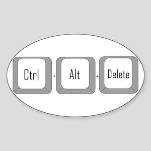Control alt delete Oval Sticker