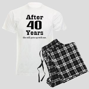40th Anniversary Funny Quote Men's Light Pajamas
