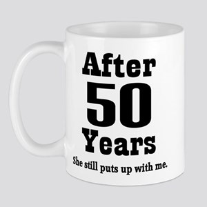 50th Anniversary Funny Quote Mug