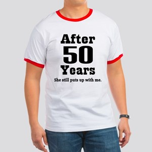 50th Anniversary Funny Quote Ringer T