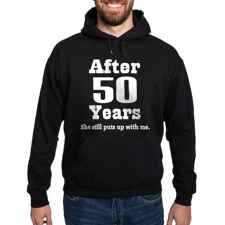 50th Anniversary Funny Quote Hoodie (dark)