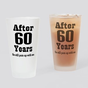 60th Anniversary Funny Quote Drinking Glass