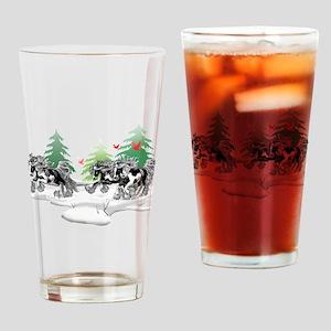 Gypsy Vanner Winter Drinking Glass
