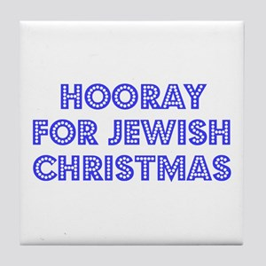 Jewish Christmas Tile Coaster