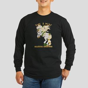 Christmas Unicorn-Have A Very Long Sleeve Dark T-S