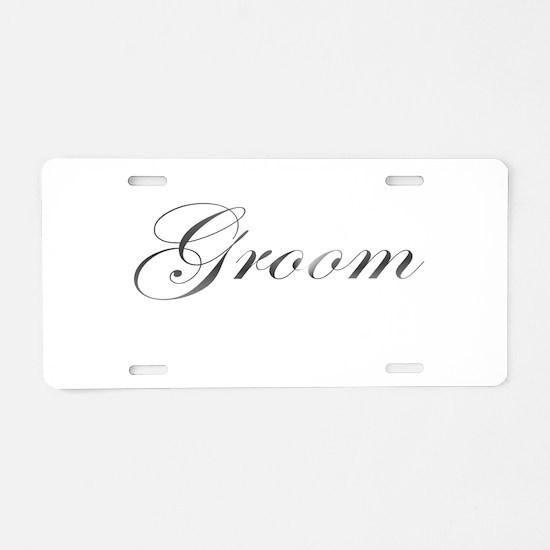 Groom Aluminum License Plate