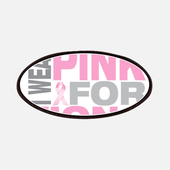 I wear pink for Fiona Patches