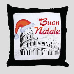 Buon Natale Roma Throw Pillow