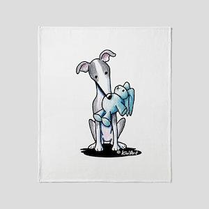 Rabbit Lover Greyhound Throw Blanket
