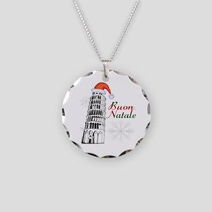 Buon Natale Pisa Necklace Circle Charm