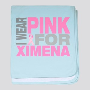 I wear pink for Ximena baby blanket
