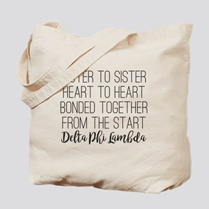 Delta Phi Lambda Sister to Sister Tote Bag