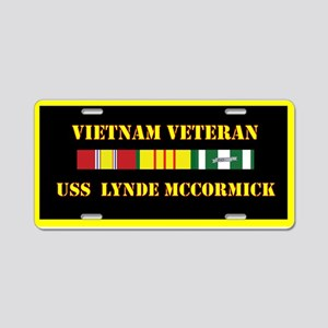 USS Lynde McCormick Aluminum License Plate
