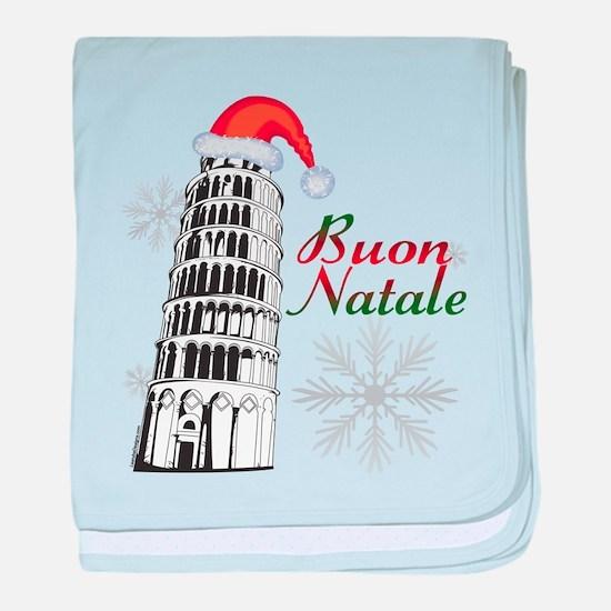 Buon Natale Pisa baby blanket