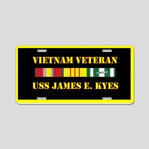 USS James E Kyes Aluminum License Plate