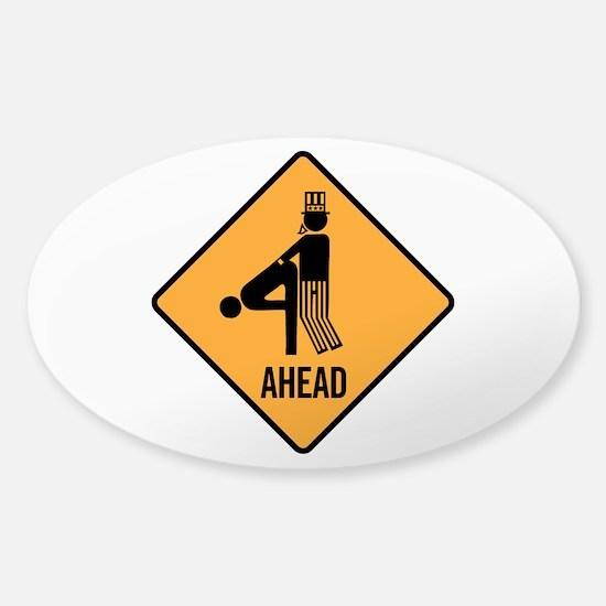 Getting Screwed Sticker (Oval)