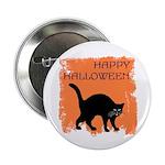 Halloween Black Cat Button