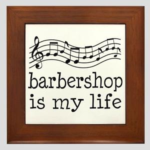 Barbershop Is My Life Gift Framed Tile