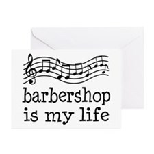 Barbershop Is My Life Gift Greeting Cards (Pk of 1