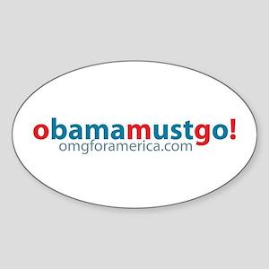 obama_must_go_long Sticker