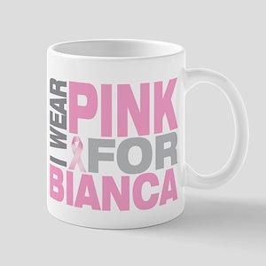 I wear pink for Bianca Mug