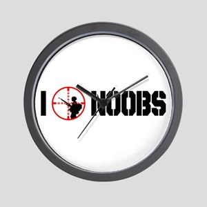 I Kill Noobs Wall Clock