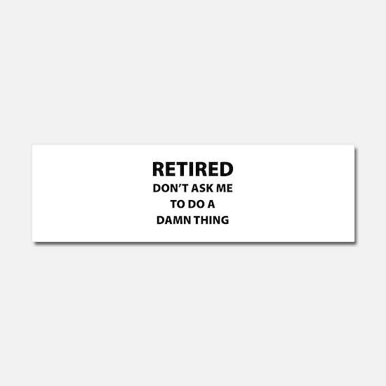 Retired Car Magnet 10 x 3