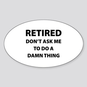Retired Sticker (Oval)