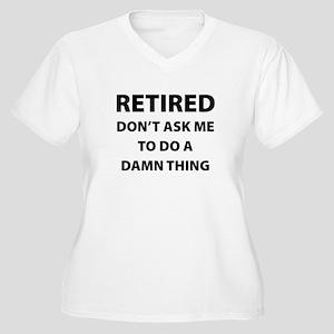 Retired Women's Plus Size V-Neck T-Shirt
