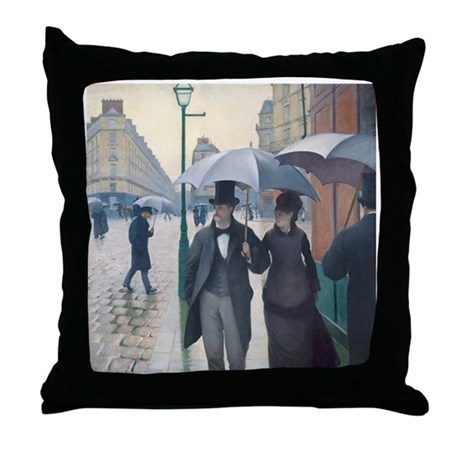 Rainy Day in Paris, Caillebotte Throw Pillow