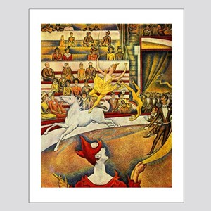 Circus by Seurat Small Poster