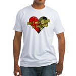 Half My Heart is in Iraq (NEW) Fitted T-Shirt