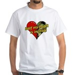 Half My Heart is in Iraq (NEW) White T-Shirt