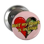 Half My Heart is in Iraq (NEW) Button