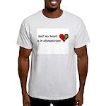 Half my heart is in Afghanistan Ash Grey T-Shirt