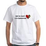 Half my heart is in Afghanistan White T-Shirt