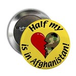 Half my heart is in Afghanistan Button