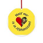 Half my heart is in Afghanistan Keepsake (Round)
