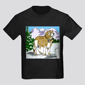saint bernard with landscape Kids Dark T-Shirt