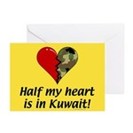 Half my heart is in Kuwait Greeting Cards (Package