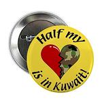Half my heart is in Kuwait Button