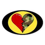 Half my heart is in Kuwait Oval Sticker