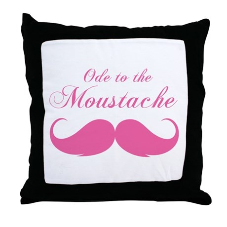 Ode to the moustache Throw Pillow
