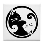 Yin Yang Cats - Tile Coaster/trivet