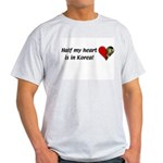Half my heart is in Korea Ash Grey T-Shirt