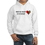 Half my heart is in Korea Hooded Sweatshirt